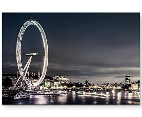 Paul Sinus Art Leinwandbilder | Bilder Leinwand 120x80cm London in der Abenddämmerung