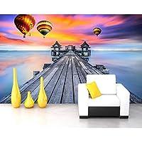 xueshao 海サンセットサンセットビーチ自然風景テレビソファ壁ホテルロビー装飾壁紙ベッドルーム3Dカスタム壁画-350X250Cm