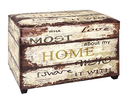 Haku Möbel caja de asiento - Tapizado en apariencia vintage