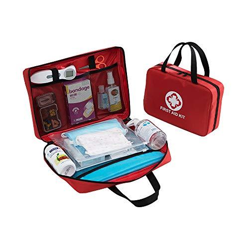Bolsa de Primeros Auxilios Roja Bolsa de Rescate de Viaje Plegable Bolso Vacío Bolsa de Almacenamiento Médico Adecuada para El Coche Oficina En Casa Cocina Deportes Al Aire Libre (Rojo)(33*23*7cm)