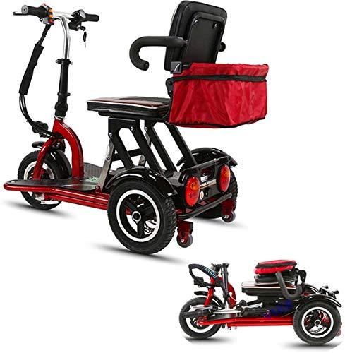電動車椅子/ 電動3輪電動スクーター、折り畳み式三輪車軽量高齢者障害者屋外の旅行者に 電動車椅子大人のためのモバイルスクーター、48V12AH / 40キロ 快適で安全な旅行 (Size : 48V8AH/30KM)