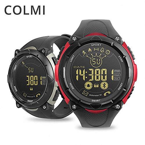 Colmi s7 Smartwatch 50 metros impermeable en espera 33 meses 24 horas supervisión deportiva para Android iOS Brim hombres reloj inteligente (gris/China)