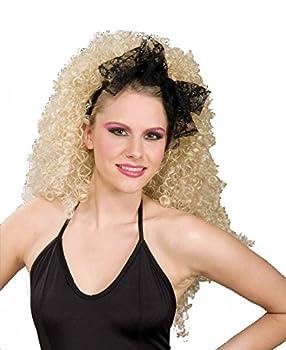 Forum Novelties Women s 80 s Lace Novelty Hair Scarf Black One Size