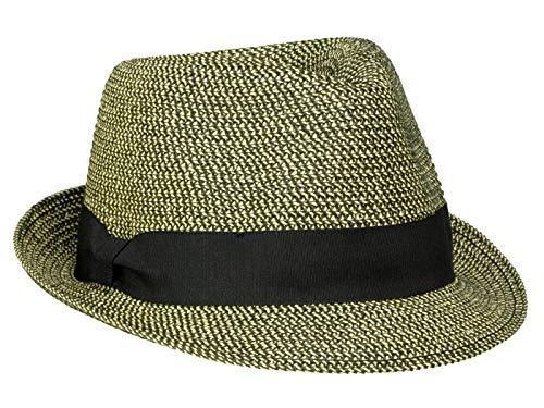 Seeberger Damen Trilby aus knautschbarer Papierborte - Schwarz (10) - One Size