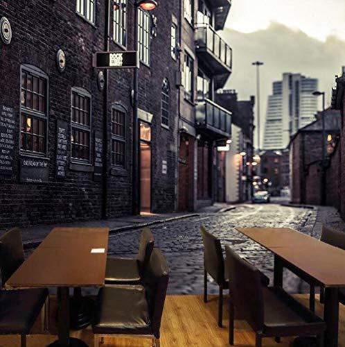 3D vliesbehang personaliseerbaar kunstschilderij 3D fotobehang Europese stad Street View grote muurschilderij druk sticker wooncultuur vlies behang wandschilderij 300 x 210 cm.