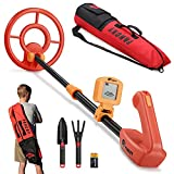 """PANCKY Metal Detector for Kids, Junior Metal Detector with LCD Display,Adjustable Stem and Carrying Bag,Lightweight Gold Detectors Advanced DSP Chip 7.5"""" Waterproof Coil - PK1003"""