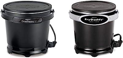 Presto 05411 GranPappy Electric Deep Fryer & 05420 FryDaddy Electric Deep Fryer,Black