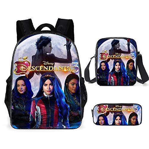 Petainer Set de Mochilas Infantiles AnimeDescendientesBackpack 3 (A)