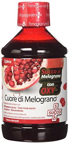 Optima Naturals Optima Iaf00060794 Cuore di Melograno, Succo con Oxy 3, Melagrana, 500 ml