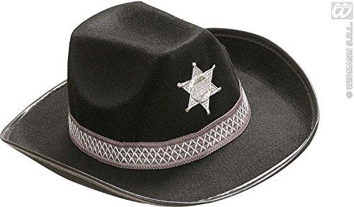 Widmann wdm2474h–Kostüm für Erwachsene Hut Sheriff aus Filz, schwarz, Einheitsgröße