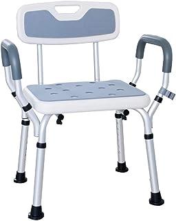 Bath Chair Shower Bathtub Lift Chair Shower Stool Bathroom Seat with Handrail Backrest Disability Aid Non-Slip Leg Pad for...