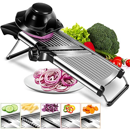 Adjustable Mandoline Food Slicer Stainless Steel Slicer Vegetable Potato Onion Food Slicer for Kitchen Cut Potato Chip Vegetable Onion