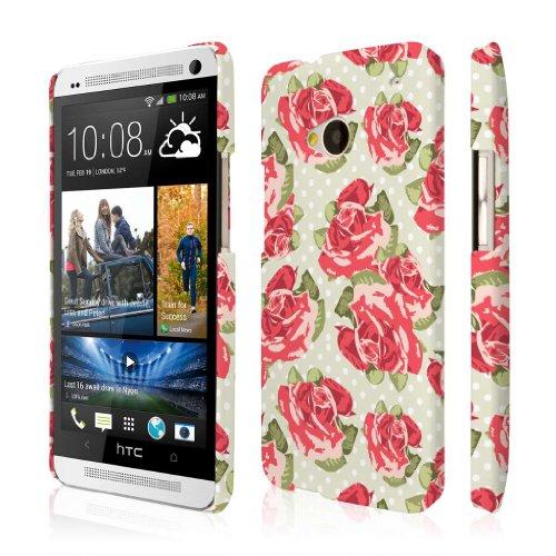 Empire Signature Series - Carcasa fina para HTC One M7, diseño floral, color rojo