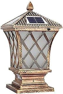 Solar LED Post Lantern Outdoor Lawn Lamp LED Garden Landscape Floor Lamp Simple Modern Post Cap Light Waterproof IP65 LED ...