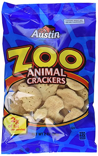 Austin Zoo Animal Crackers 2 Ounce Packages (12 Pack)