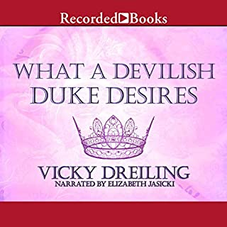 What a Devilish Duke Desires audiobook cover art