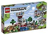 LEGO 21161 Minecraft CajaModular3.0, Juguete de Construcción, Castillo Fortaleza Granja Set con Figuras de Steve, Alex y Creeper