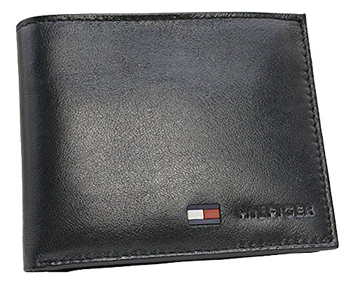 TOMMY HILFIGER(トミーヒルフィガー) 財布 二つ折り 小銭入れあり 31TL25X020 ブラック [並行輸入品]