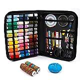 Inscraft 182 Kit de costura con suministros de costura premium, 38 bobinas de hilo XL, apto para viajeros, adultos, niños, principiantes, emergencias, bricolaje y hogar