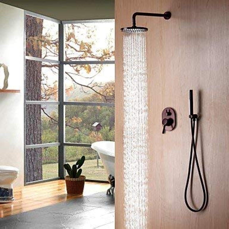 SISHUINIANHUA Dusche Wasserhahn - zeitgenssische einfache Moderne Stil l eingerieben Bronze Wand montiert Keramikventil