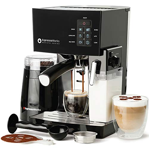 Espresso Machine, Latte & Cappuccino Maker- 10 pc...