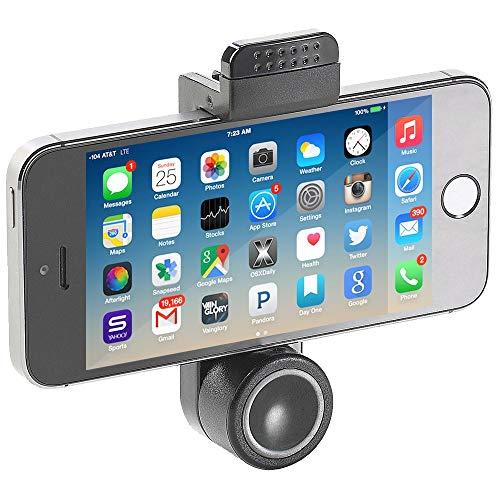 MMOBIEL Universal Soporte de Coche para Teléfono Móvil, Negro, visualización 360°, Mobile Phone Holder para Smartphones