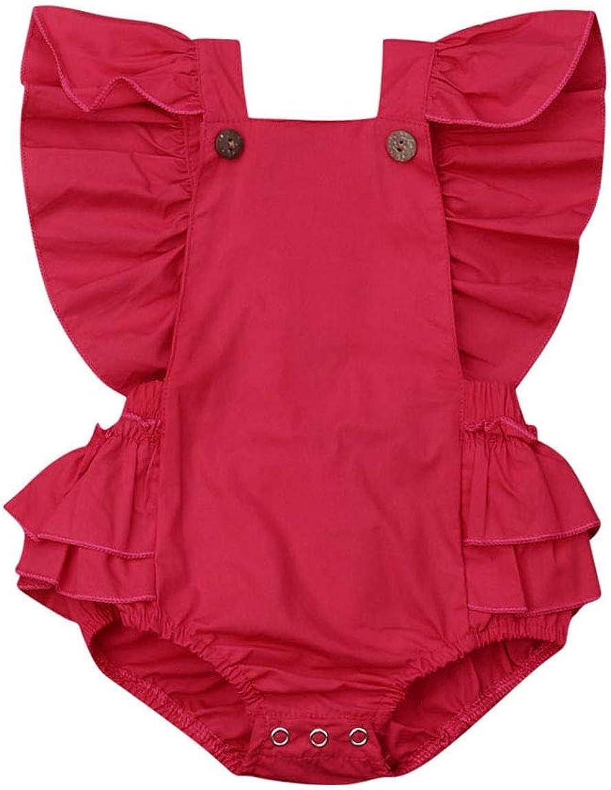 New York Mall Gwiyeopda Newborn Infant specialty shop Baby Girl Sleeveless Bac Summer Ruffles