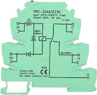 PLC Interface Relay, MRC-25A61Z230 PLC Electromagnetic Contact Interface Relay Module Input 230VAC/220VDC 1NO 1 NC