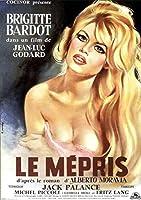 Le meprisContemptフランスフランスJean-LucGodard映画映画装飾ポスター壁キャンバス家の装飾寝室の壁の装飾50x70cmフレームなし