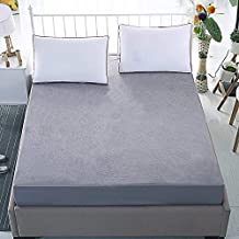 Anand Overseas Traders 100% Waterproof Soft Terry Cotton Fitted Mattress Protector/Bed Cover (72 x 78, Gray)