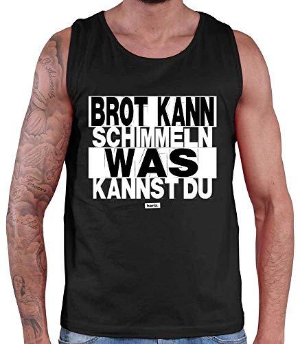 HARIZ Herren Tank Top Brot Kann Schimmeln was Kannst Du Sprüche Schwarz Weiß Inkl. Geschenk Karte Schwarz 4XL