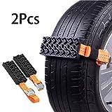 Riloer Catene da neve, 2 catene per pneumatici antiscivolo per auto/camion/SUV, cintura per pneumatici antiscivolo per emergenza all'aperto, 95 * 5 cm