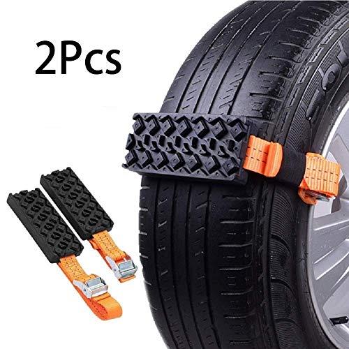 Riloer Cadenas de Nieve, 2 Cadenas de Neumáticos Antideslizantes para Coche Camión SUV, Cinturón Antideslizante para Neumáticos de Coche para Emergencias al Aire Libre, 95 * 5 cm