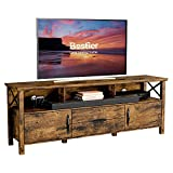 BESTIER TV Stand wide with Storage Drawers for up to 75 Inch TV, Entertainment Center with Storage Cabinet, Farmhouse Console Table for 70 inch TV, 65 Inch, Rustic Brown
