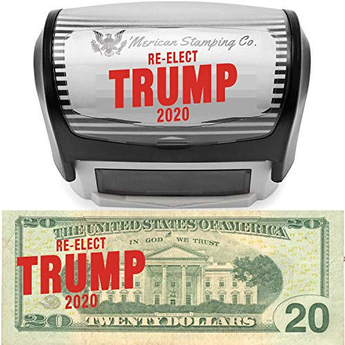 Re-Elect Trump 2020 Stamp by 'Merican Stamping Co. | Donald Trump Lives Here Stamp | MAGA Keep America Great!