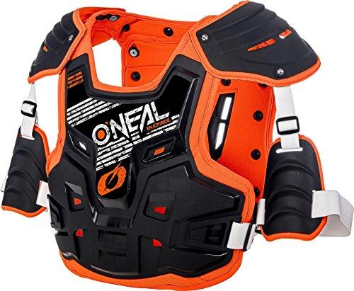 O'NEAL   Brustprotektor   Motocross Enduro   Aus Kunststoff-Spritzguss, Verstellbare Hüftgurte, Zertifiziert EN 14021   PXR Stone Shield Brustpanzer   Erwachsene   Schwarz Orange   One Size