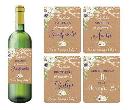 Moonrise Papery Wine Bottles