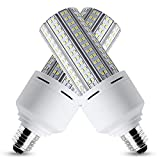 LED Corn Light Bulb 600W Equivalent LED Corn Lamp 7500 Lumen 60W Large Area Cool Daylight White E26/E27 Medium Base for Outdoor Indoor Garage Warehouse Factory Workshop Street Backyard (2 Pack)