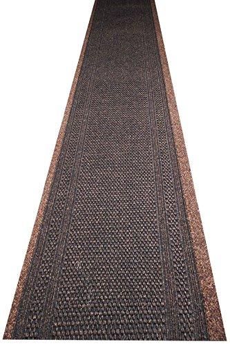 havatex Küchenteppich/Küchenmatte/Teppichläufer Arabo - und schadstoffgeprüft | robust pflegeleicht und schmutzresistent | Küche Flur Diele Veranstaltungen, Farbe:Braun, Größe:80 x 300 cm