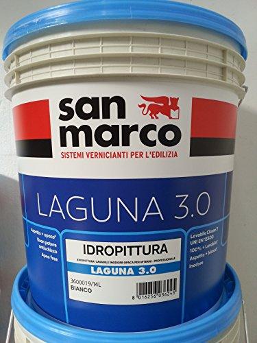 san marco LAGUNA 3.0 idropittura lavabile INODORE per interni, colore bianco, lt 4