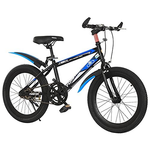 Axdwfd Infantiles Bicicletas 18/20 Pulgadas Ciclismo para niños y niñas, Adecuado para niños de 7 a 14 años, Azul (Size : 18in)