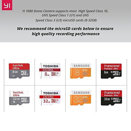YI Dome Überwachungskamera- IP Kamera Full HD 1080p, Surveillance Home Camera PTZ Pan / Tilt / Zoom, 2 Way Audio, Bewegungserkennung, Nachtsicht, Wifi - Weiß - 4