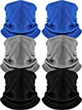6 Pack Fleece Neck Warmer Gaiter Mask Thick Thermal...