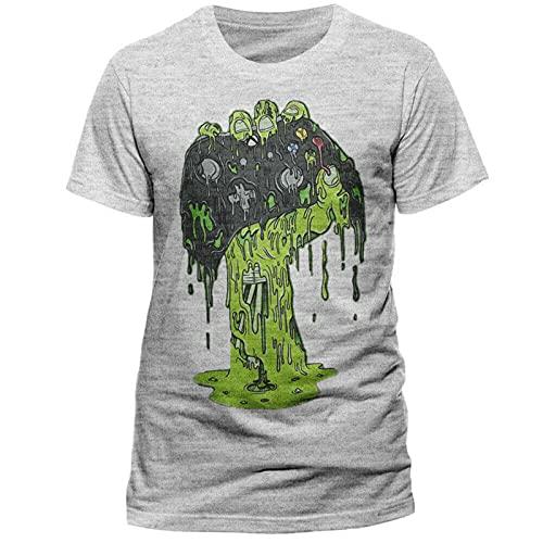 Xbox Controller Zombie Hand Gaming Mens Grey T-Shirt Grey 3XL