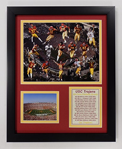 USC Trojans All Time Greats NCAA Double Matted 8x10 Photograph National Champs Collage