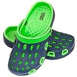 Aqua Speed Zapatillas de baño Silvi para niños y Adolescentes, Color:Navy/Verde, Talla de Zapatos de baño:35