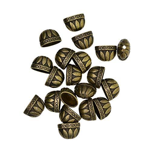 harayaa 20 Jewelry Making Bead Caps Tassel Caps Tips DIY
