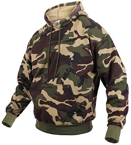 Rothco Camo Pullover Hooded Sweatshirt, XL, Woodland Camo