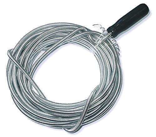 DWT-GERMANY 101058 8m x 7,5mm Rohrreinigungswelle Flexible Spirale Abflussspirale Rohr Reinigungsspirale Abflussreiniger Rohrreinigungs Welle Abfluss Spiralle Rohr Reinigungs Spirale