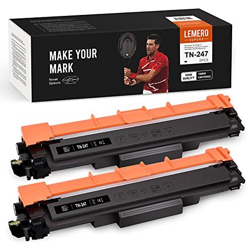 LEMERO SUPERX TN-247 - Tóner compatible con Brother TN247 para Brother HL-L3210CW L3230CDW L3270CDW MFC-L3710CW L3730CDN L3750CDW L3770CDW DCP-L3510CDW L3550CDW L3517CDW (2 unidades), color negro